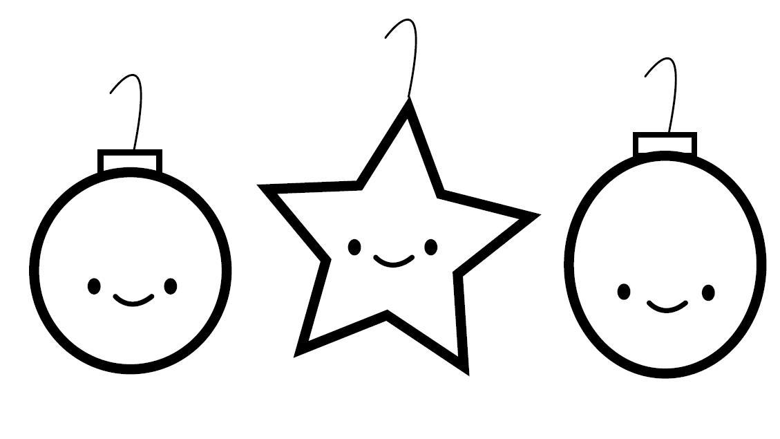 Елочные шары с улыбочками Зимние раскраски для мальчиков