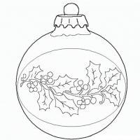 Шар с рисунком из ягод Зимние раскраски для мальчиков