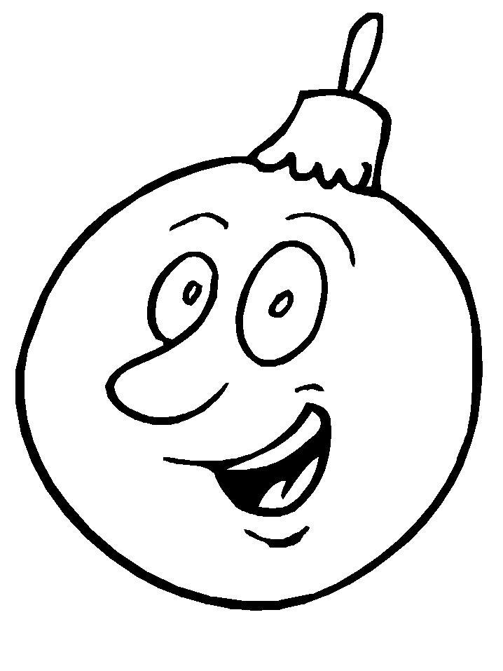 Елочный шар с улыбочкой Зимние раскраски для мальчиков