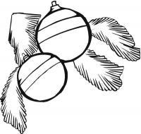 Елочные шары с веточками елки Зимние раскраски для мальчиков