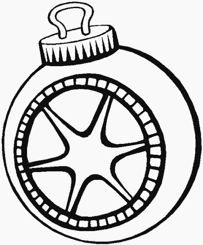 Елочный шар со звездой Зимние раскраски для мальчиков