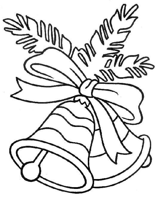 Колокольчик Зимние раскраски для мальчиков