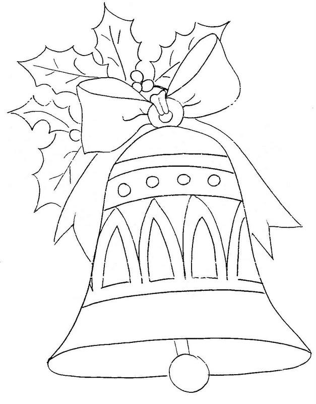Колокольчик на бантике на веточке Раскраски зима скачать бесплатно