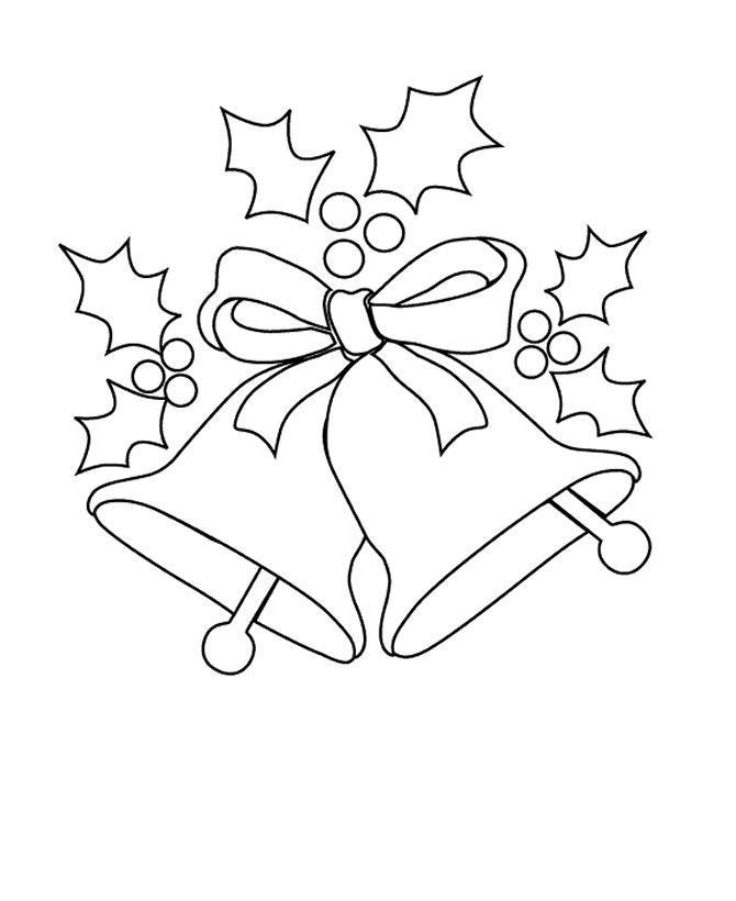 Колокольчики для открыток и плакатов Раскраски про зиму для детей