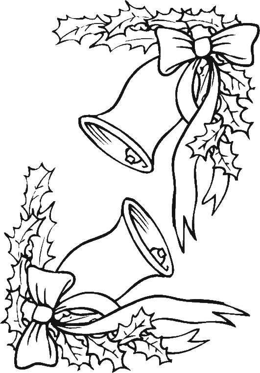 Колокольчики для рамки на плакат Раскраски зима скачать бесплатно