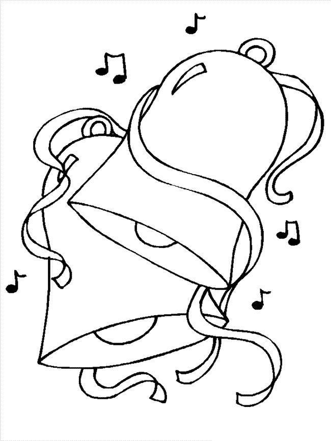 Колокольчики с нотами для плаката Раскраски про зиму для детей