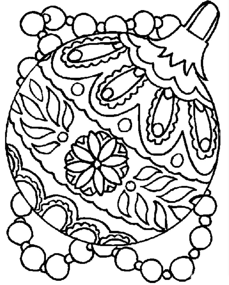 Большой шар с красивым рисунком Зимние раскраски для мальчиков