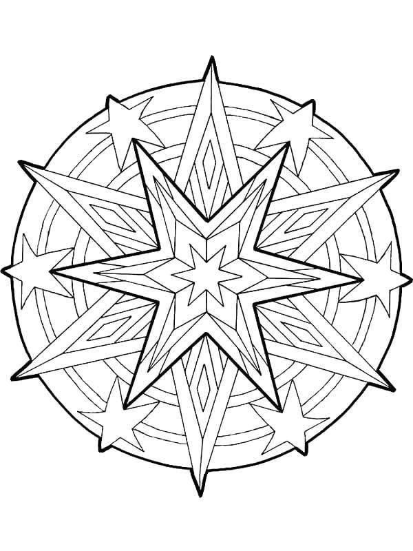 Елочные украшения шары со снежинками Детские раскраски зима распечатать