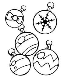 По разному украшенные шары Детские раскраски зима распечатать