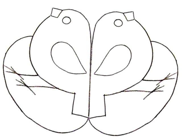 Простая маска Раскраски про зиму для детей