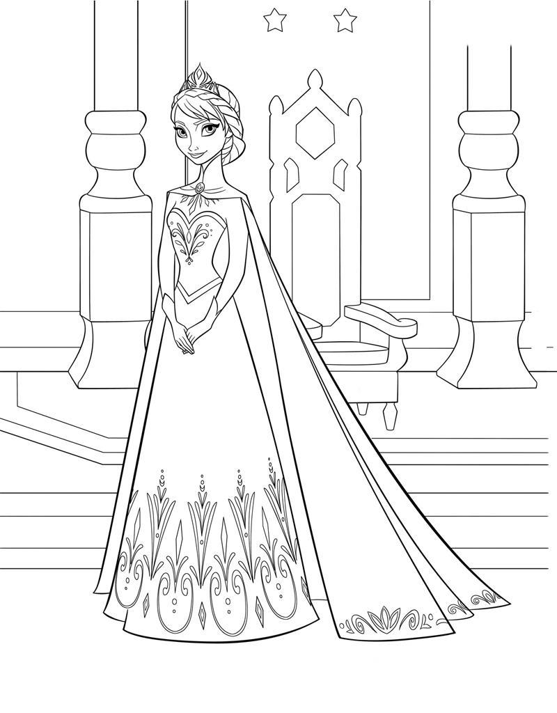 Принцесса из холодного сердца Зимние раскраски для мальчиков