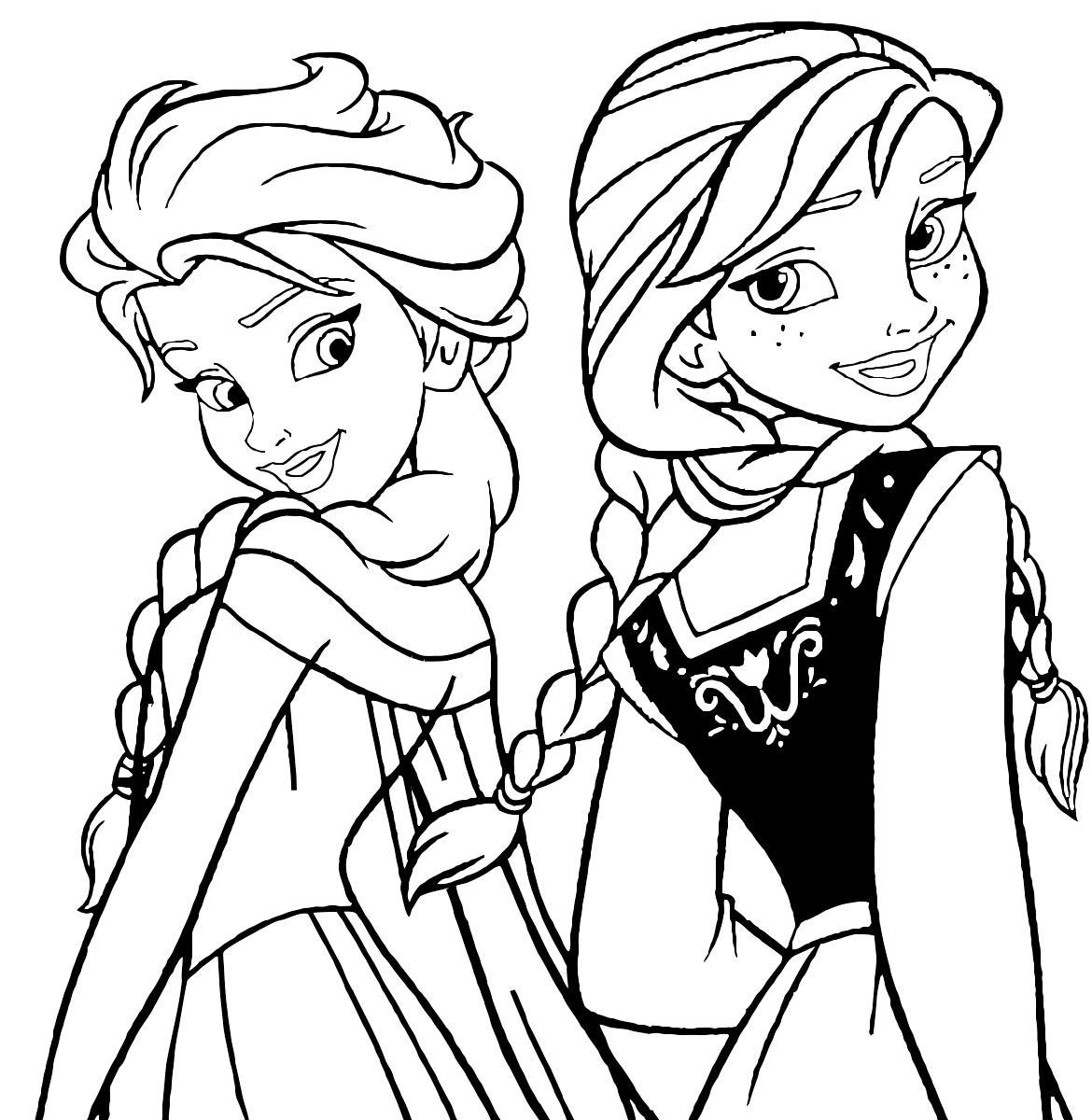 Принцессы холодного сердца Зимние раскраски для мальчиков