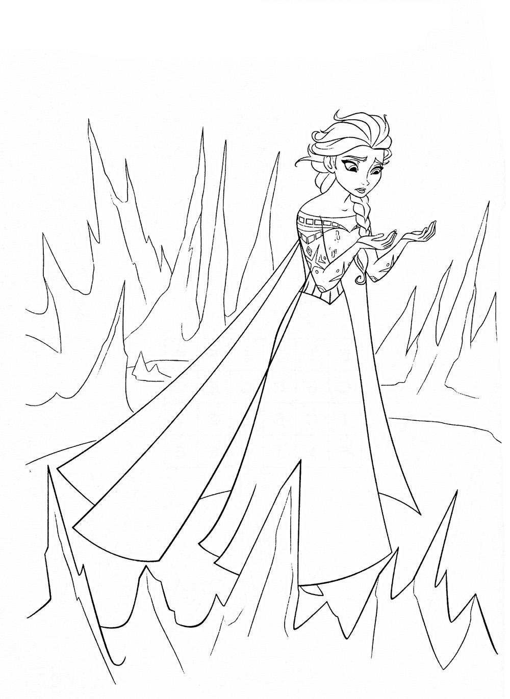 Принцесса грустит Зимние раскраски для мальчиков