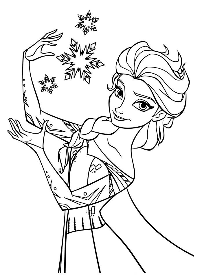 Принцесса со снежинками Зимние раскраски для мальчиков