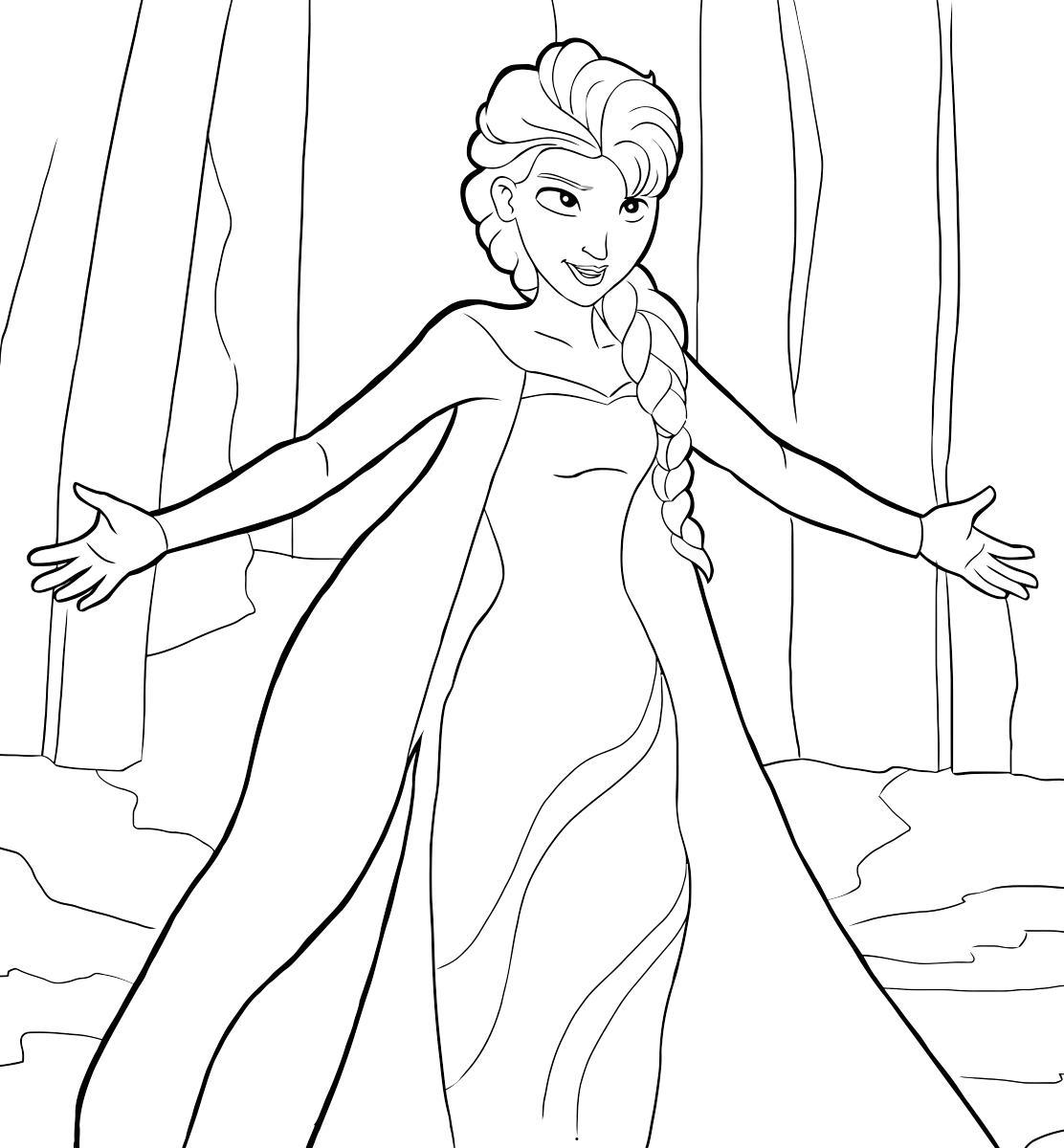 Снежная принцесса Зимние раскраски для мальчиков