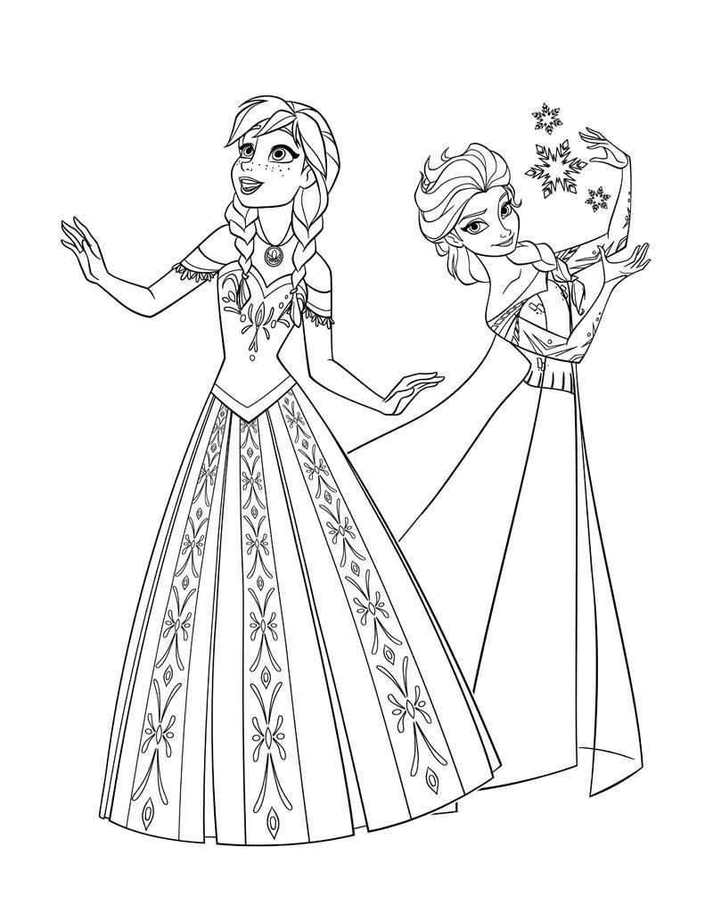 Сестры снежного королевства Зимние раскраски для мальчиков