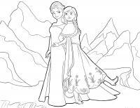Две сестрички холодного сердца Зимние раскраски для мальчиков
