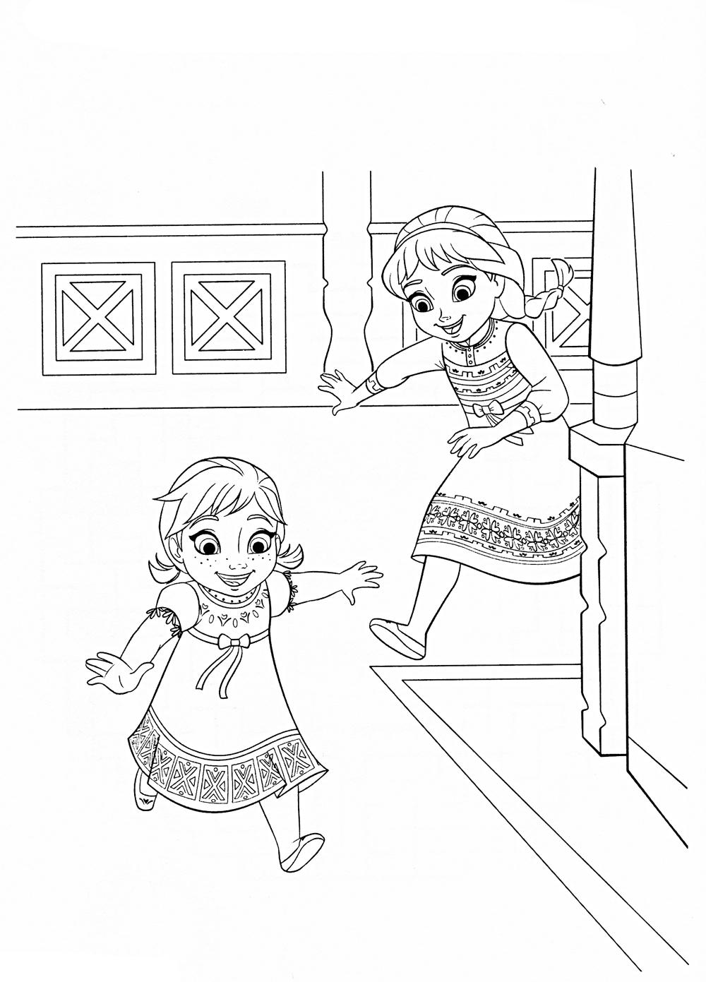 Девочки резвятся Зимние раскраски для мальчиков