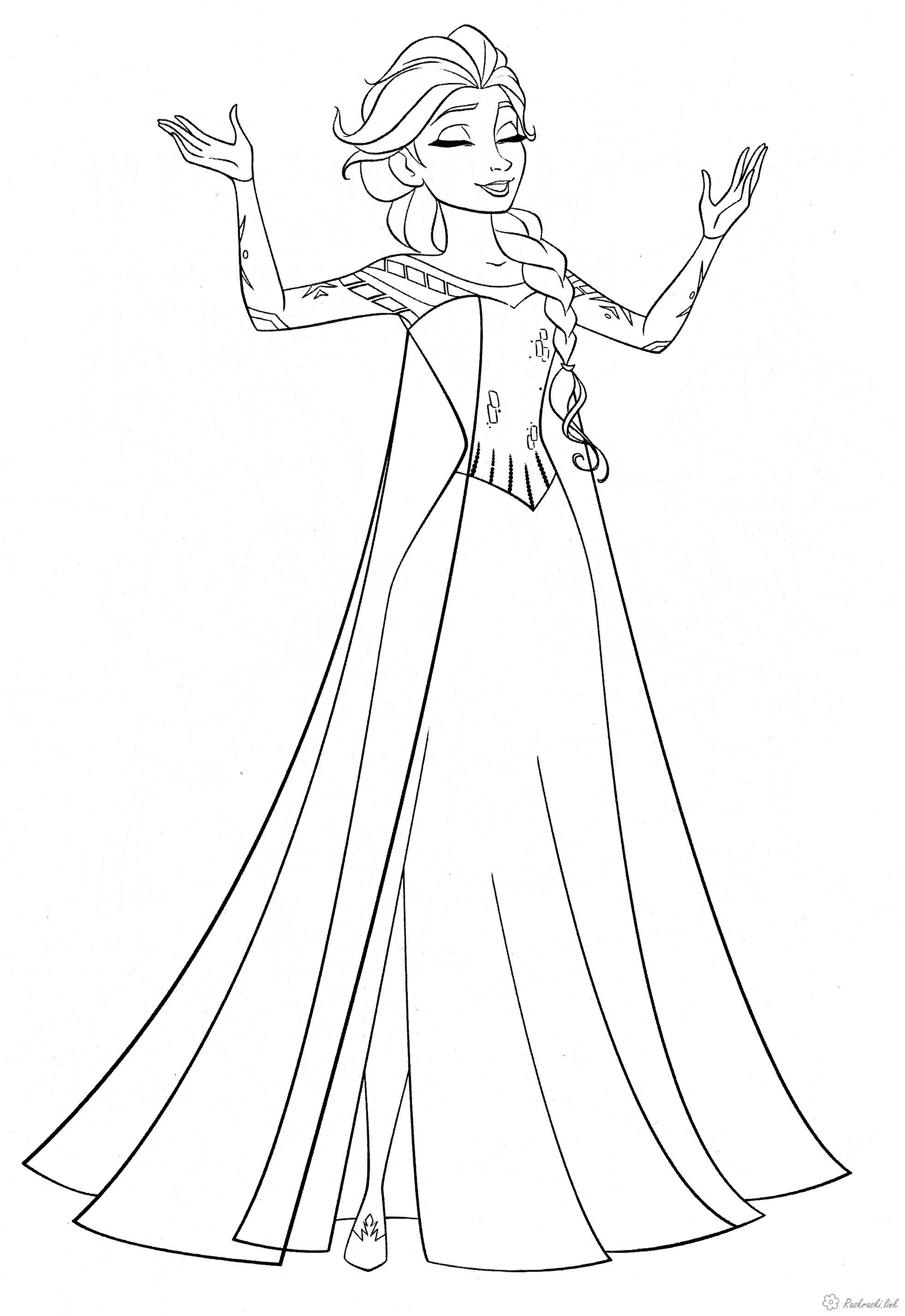 Принцесса Раскраски зимушка зима