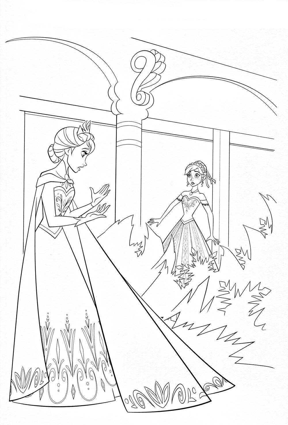 Разговор принцесс Раскраски на тему зима
