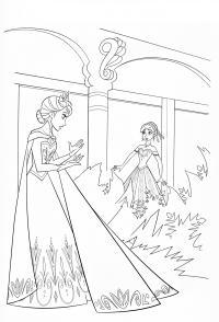 Разговор принцесс Раскраски зимушка зима