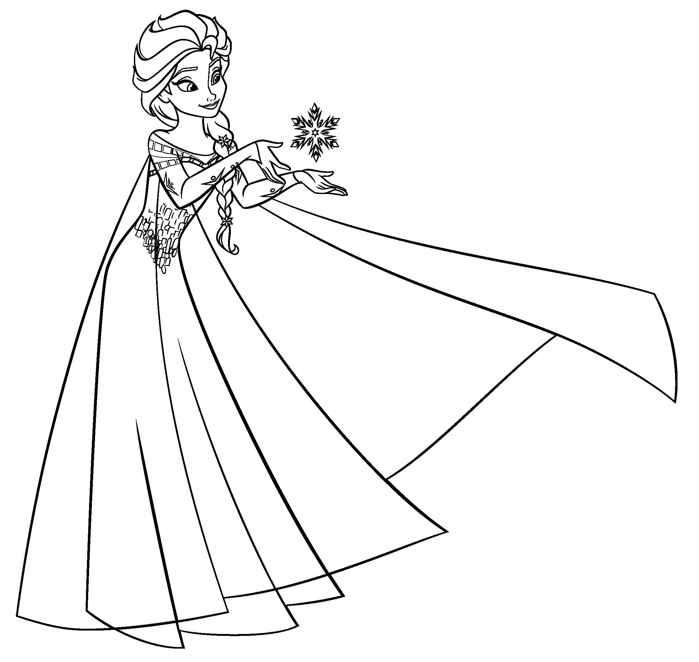 Принцесса со снежинкой Раскраски зимушка зима