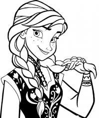 Принцесса Раскраска сказочная зима