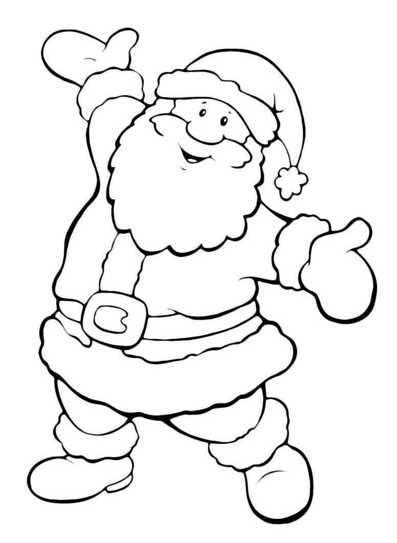 Дед мороз, санта клаус Раскраска зима пришла