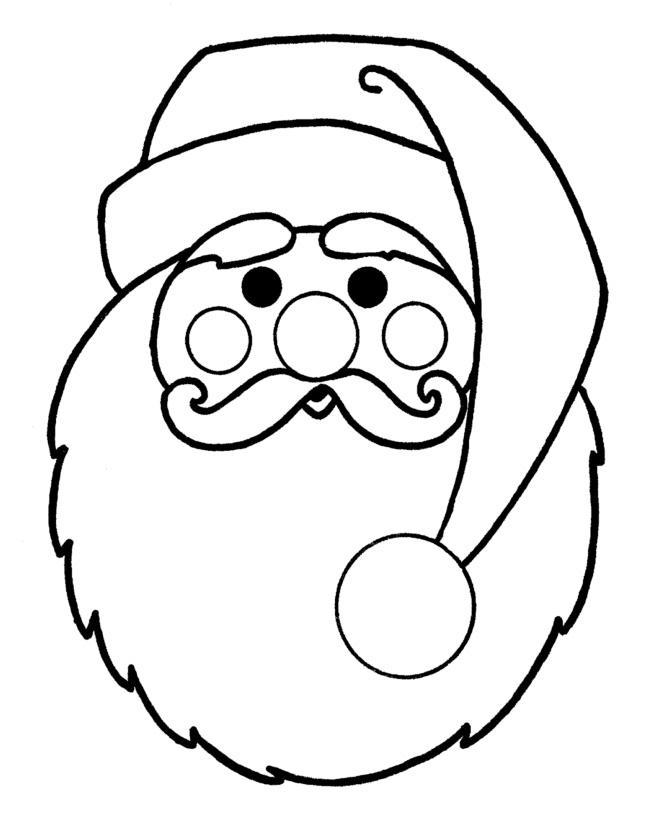 Дед мороз, маска Раскраска зима пришла