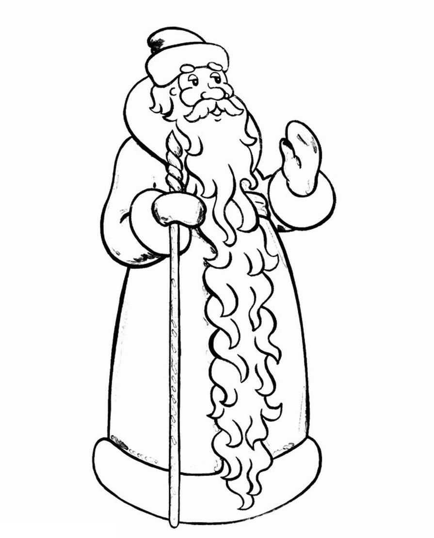 Раскраски на новый год 2016 дед мороз