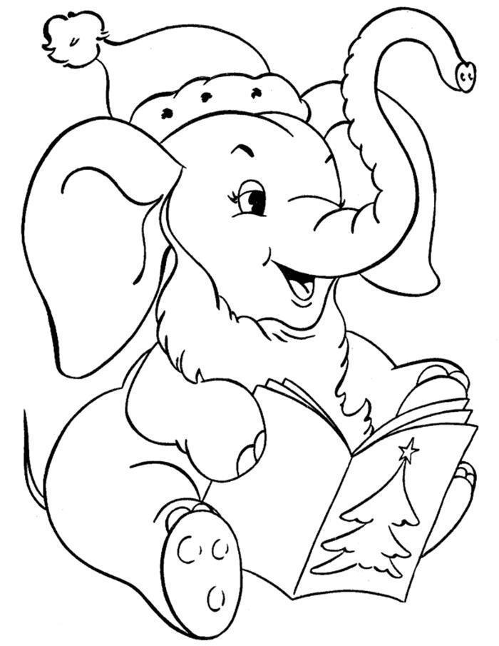 Слоненок зимой картинки