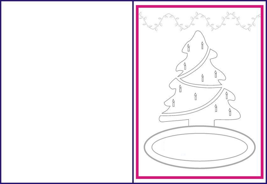 Новогодние открытки с елочкой с горящими свечами Зимние раскраски для мальчиков