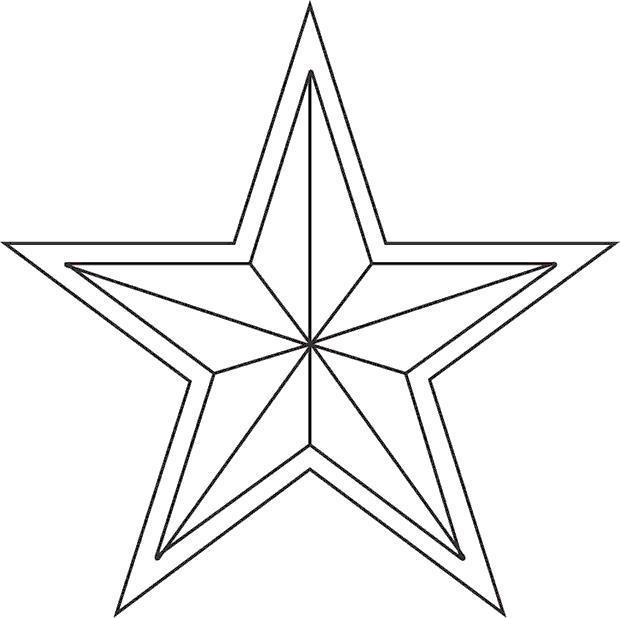 Звезда в раскраске