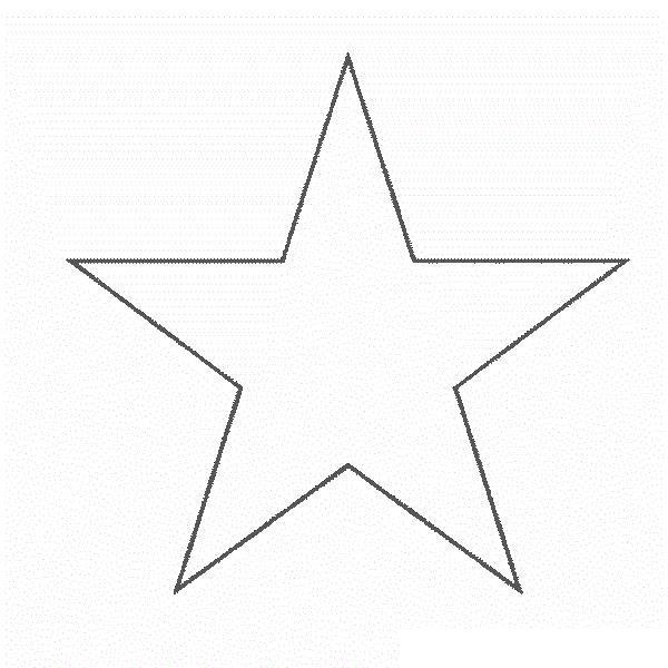 Игрушка звезда новогодняя контур Раскраска сказочная зима