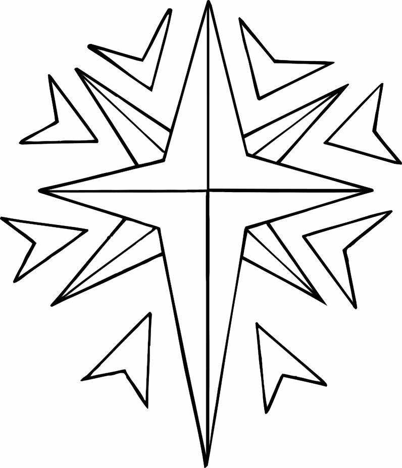 Игрушка звезда новогодняя Детские раскраски зима распечатать