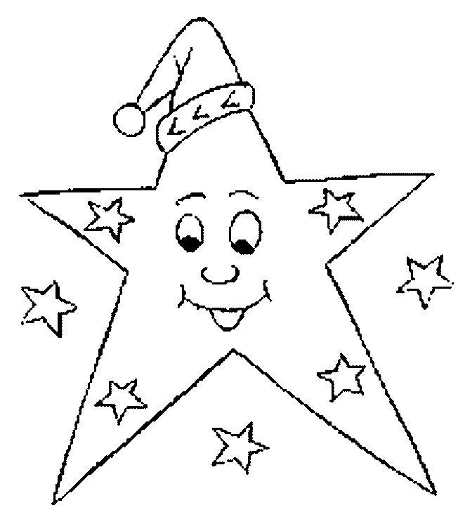 Игрушка звезда новогодняя Раскраска зима распечатать