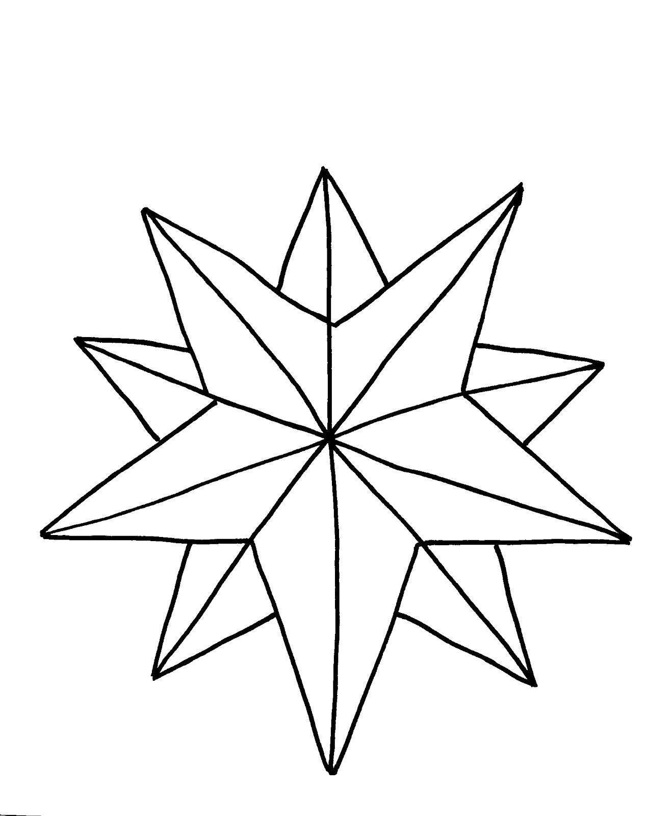 Игрушка звезда новогодняя Зимние раскраски для девочек