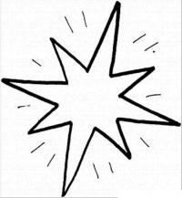 Сияющая новогодняя звезда Рисунок раскраска на зимнюю тему
