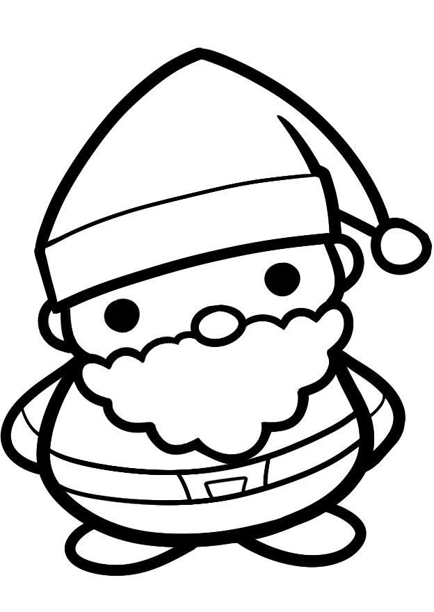 Дед мороз Раскраска сказочная зима