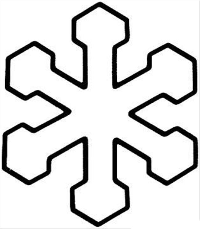 Снежинки для украшения Раскраски для детского сада