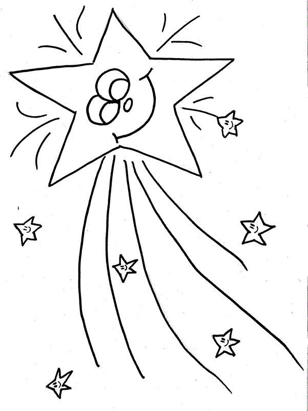 Звезда новогодняя Раскраски на тему зима