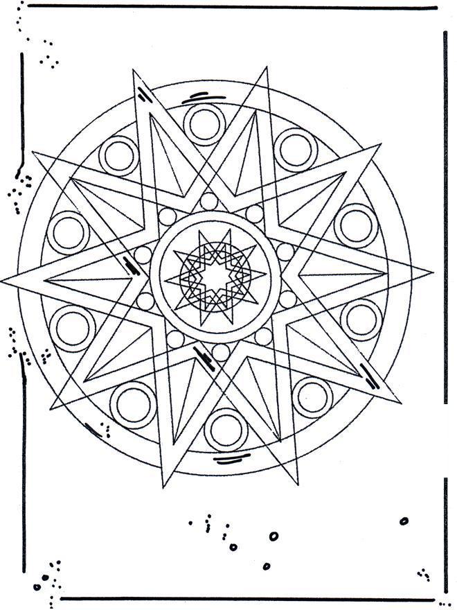 Узор звезда для шара Рисунок раскраска на зимнюю тему