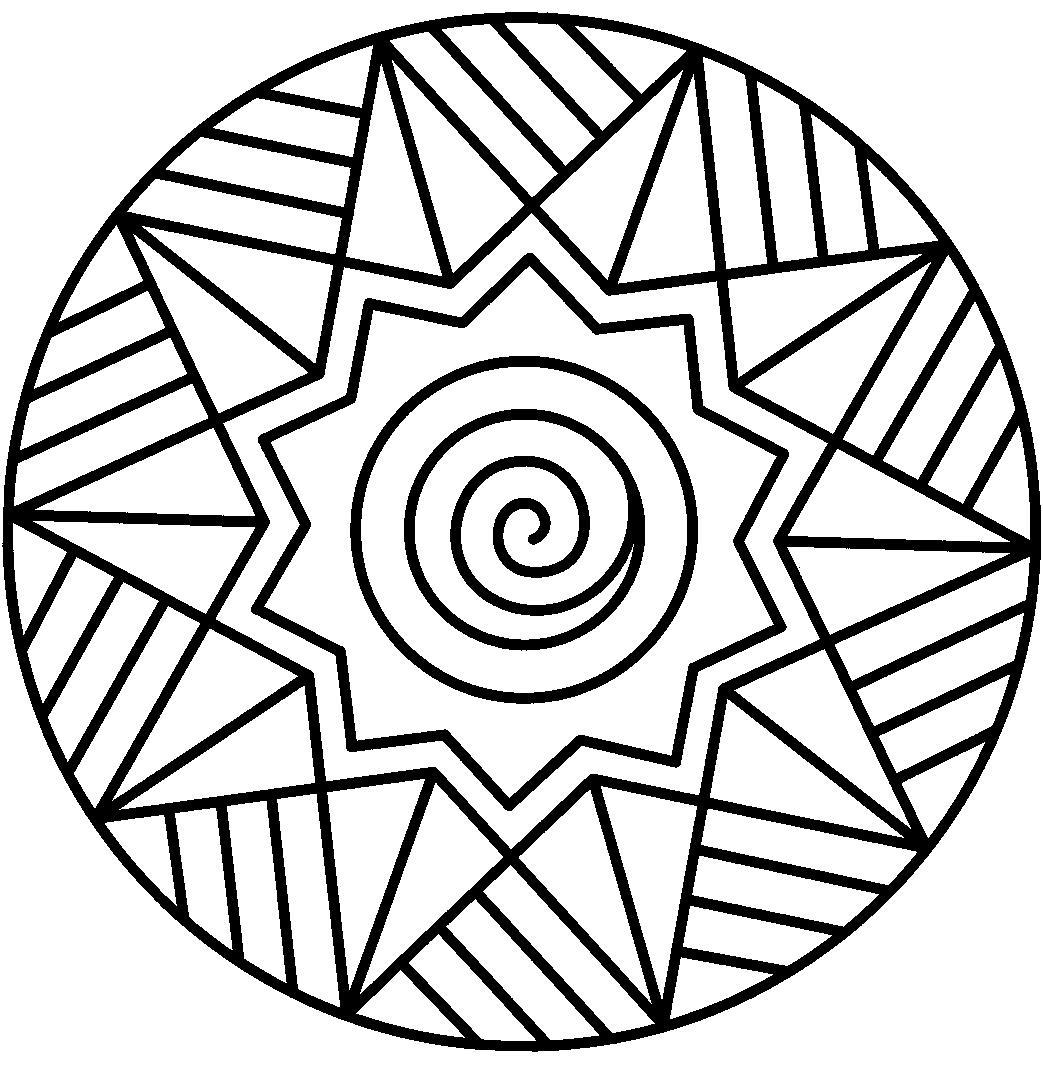 Звезда на шаре Рисунок раскраска на зимнюю тему