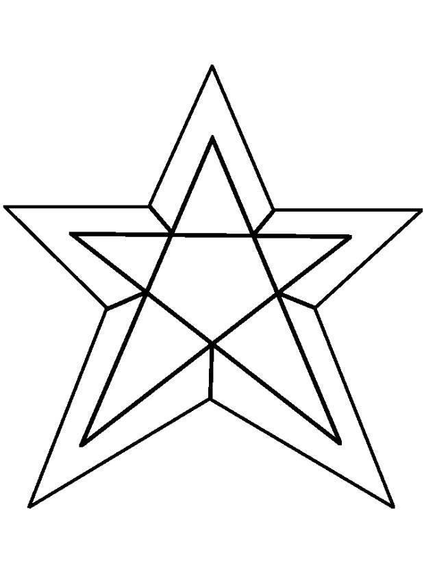 Звезда в яруса Зимние раскраски для малышей