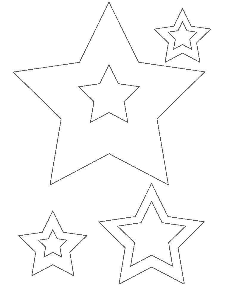 Трафареты звездочек Раскраска сказочная зима