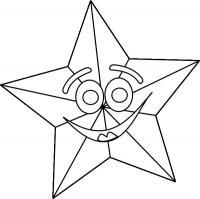 Игрушка звезда новогодняя смеющаяся Рисунок раскраска на зимнюю тему