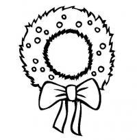 Веночек из хвои Зимние раскраски для малышей