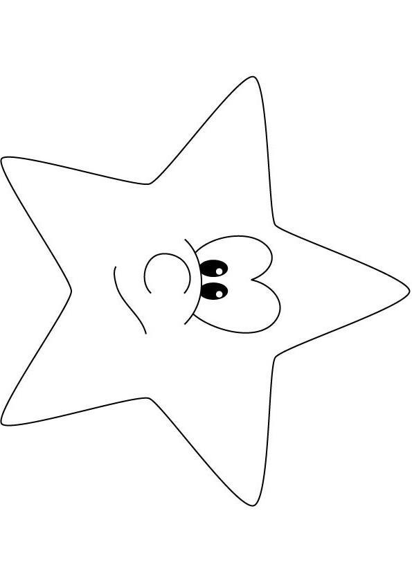 Игрушка звезда новогодняя с улыбочкой Раскраска сказочная зима