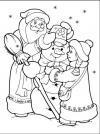 Дед мороз и снегурочка лепят снеговика Раскраски зима скачать бесплатно