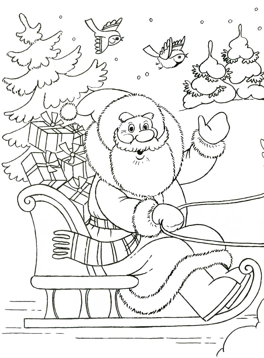 Картинки раскраски в детском саду зима
